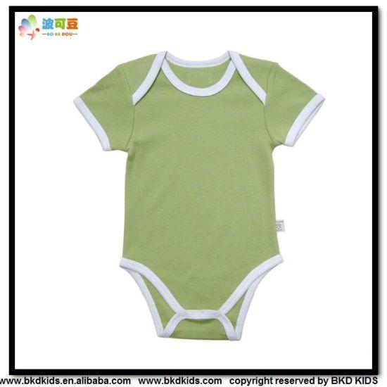 Plain Dyed Baby Apparel Envelope-Neck Toddler Onesie