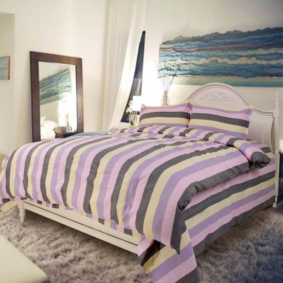 Beautiful Stripe Bedding Set 100% Cotton/Polyester Douvet Cover pictures & photos