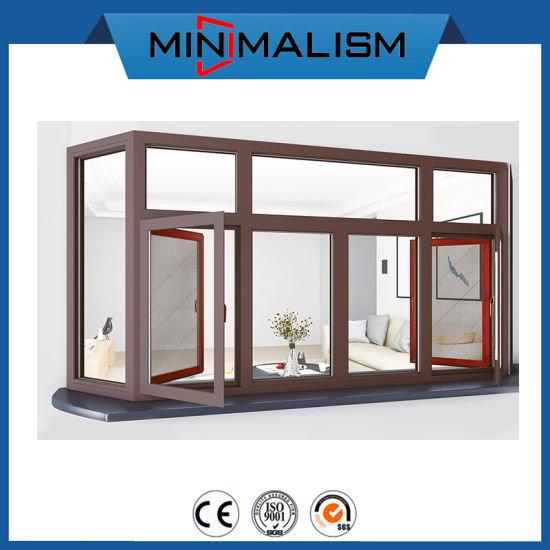 Side Hung Aluminium Casement Solid Window with 2.0mm Thickness