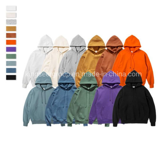 2020 Private Label Fashion Warm Custom Long Oversized Unisex 100% Cotton Printing Plain Dyed Pullover Warm Xxxxl Hoodies Clothes Winter/Thick Hoody