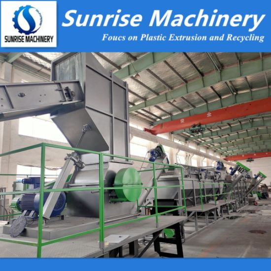 Agriculture Film Jumbo Bags PE PP Bottle Crushing Washing Recycling Line