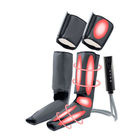 Sports Recovery Home Use Foot and Leg Massage Machine, Air Pressure Compression Foot and Calf Massager Machine with Shiatsu