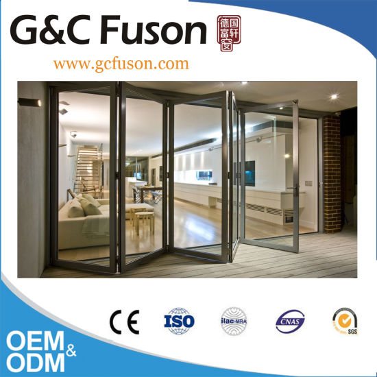 China Bi Folding Doors with Stainless Steel Rollers - China Door ...