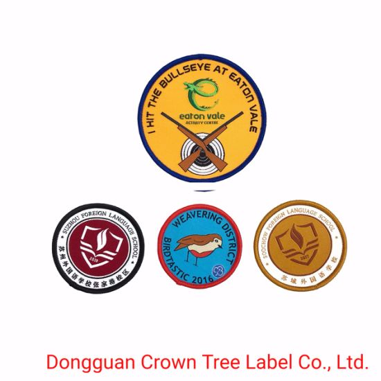 Hot Sell Woven Patch for School Student Uniform Garment Accessories