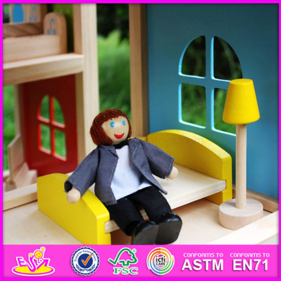 2016 Wholesale Wooden Kids Doll House, DIY Wooden Kids Doll House, Most Popular Wooden Kids Doll House W06A155 pictures & photos