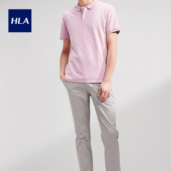 Hla Refreshing Antibacterial Polo Shirt 2020 Summer New Skin-Friendly Breathable Half-Sleeved T Male