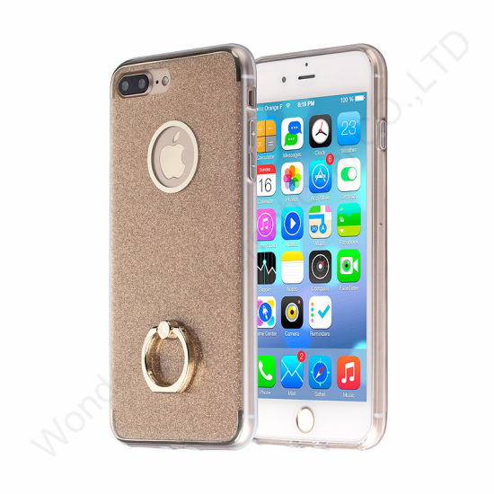 Ultra Shining Hybrid PC Ring Holder Case for iPhone 7