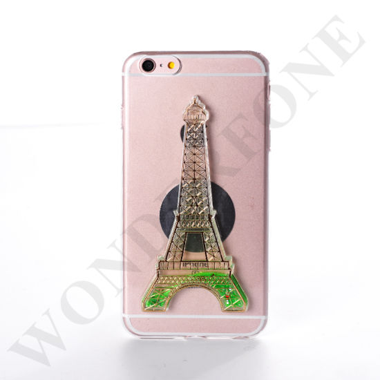 Eiffel Tower Design TPU Liquid Case for iPhone 7plus
