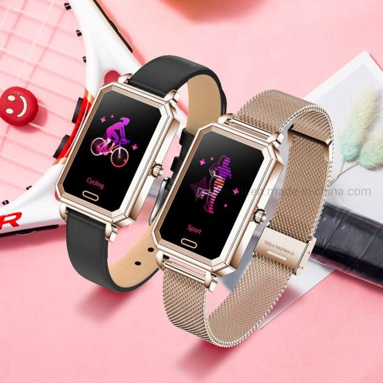 IP68 Waterproof Female Bluetooth Gift Watch Smart Bracelet with Heart Rate HT2