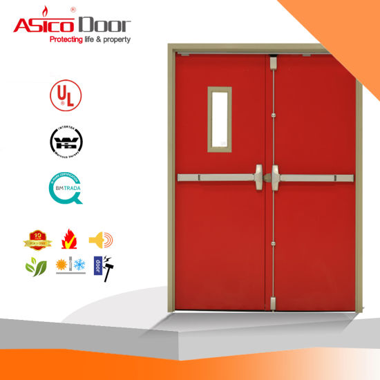 Iron Safety Fire Proof Steel Door 3.0 Hours UL Listed pictures & photos