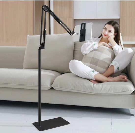 Lz-025 135cm Bedside Adjustable Stand Lazy Floor Tablet Holder for iPad iPhone