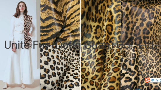 19009animalfur Tiger Print Cow Pony Hair Calf Skin Hide Breathable Real Leather for Lady Shoes Making Materials/Sofa Materials/Car Seat Upholstery Cloth