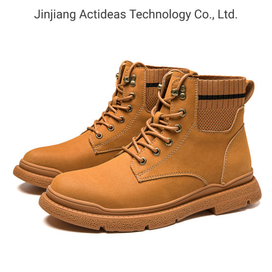 New Arrivals 2020 High Quality Fashion Brown Leather Ankle Men Boots Men Shoes