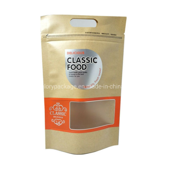 Custom Ziplock Food Bag Pouch Resealable Kraft Paper Coffee Tea Packaging Bags pictures & photos