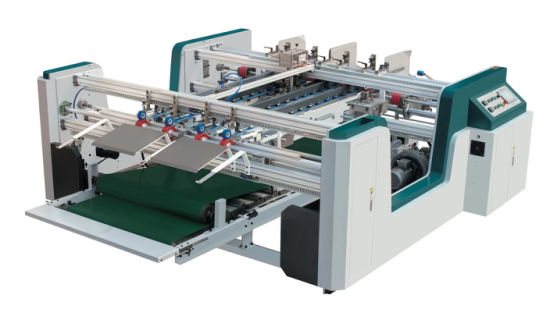 Double Servo Feeding Double Pieces Box Forming Folding Gluing Machine