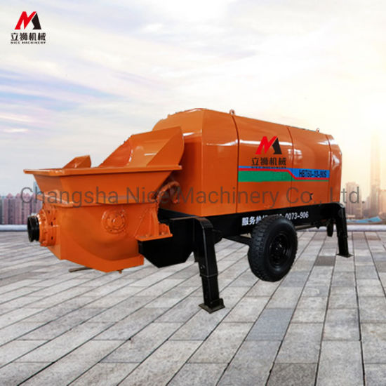 High Quality Trailer-Mounted Concrete Pump / Trailer Concrete Pump