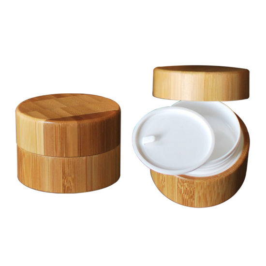 Eco-Friendly Bamboo Wooden Round Cream Jar for Tea/Skincare/Jewels/Cosmetic Packaging pictures & photos