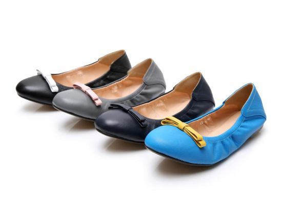 Private Brand Soft Sole After Party Shoes Ballerina Flats in Bag Women Foldable Shoes pictures & photos