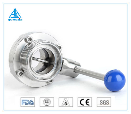 Sanitary Stainless Steel SS304/316 Manual Welded&Threaded Butterfly Valve