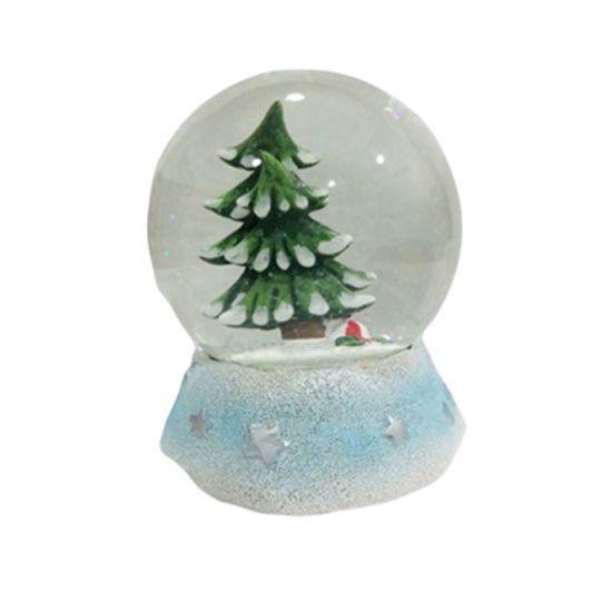 New Handicraft Water Ball Resin Christmas Tree Snow Globe for Sale