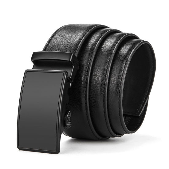 Lavemi Men/'s Real Leather Ratchet Dress Belt with Automatic Buckle,Elegant Gift