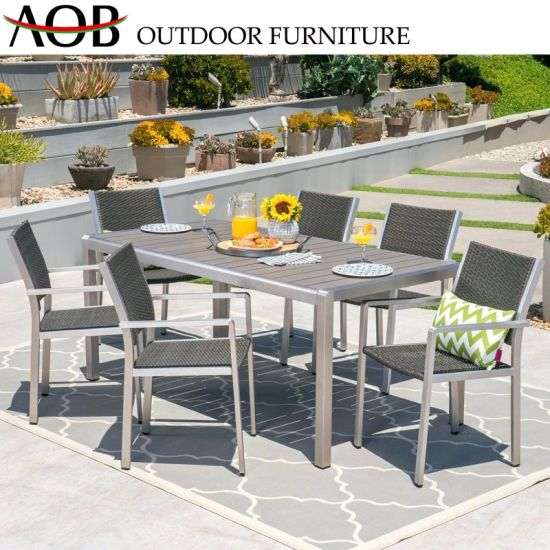 Wondrous Modern Design Outdoor Garden Patio Furniture Round Marble Dining Table Furniture Set With High Back Dining Chair Short Links Chair Design For Home Short Linksinfo