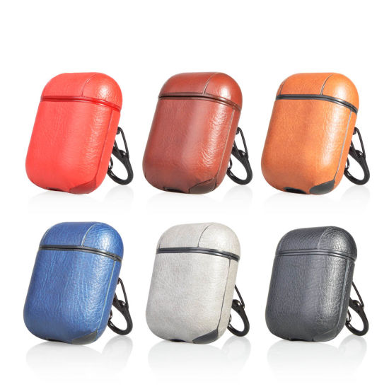 PU Leather Case Cover Protective Skin Earphones Charging Case For AirPods US