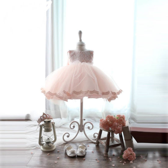 Lovly Pink Tulle Puffly Flower Girl Dress