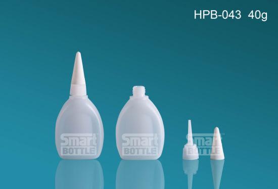 40g High Quality Flat Plastic Bottle for Glue