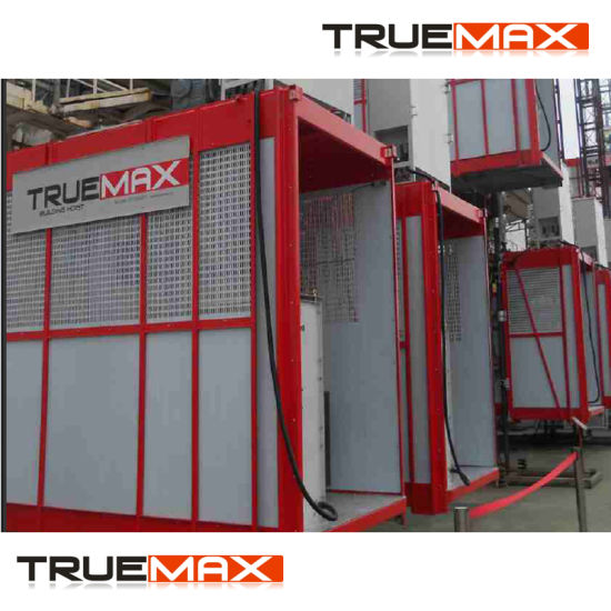 Truemax Single Cage Passenger Hoist with Schneider Inverter pictures & photos