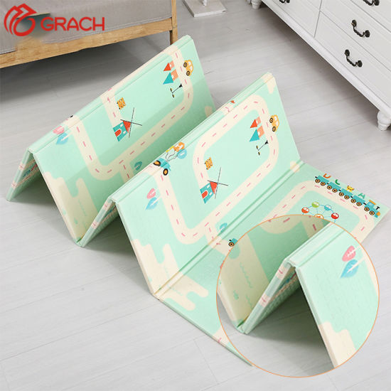 Multipurpose Ecofriendly Single Double Side Soft Light Weight Easy Clean Skidproof Portable Baby Folding Play Mat pictures & photos