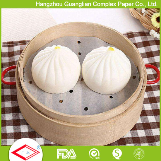 Custom Non-Stick Silicone Steaming Paper for Chinese Dim Sum