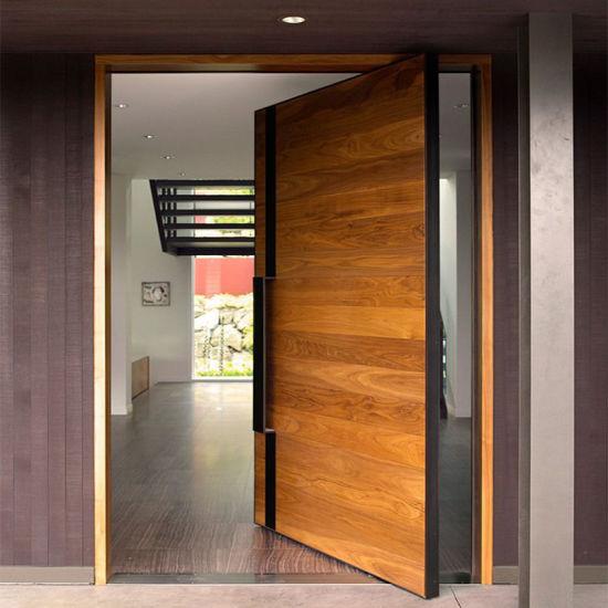 China Us Villa Main Entry Door Modern Design Pivot Wood