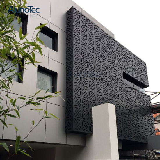 Decorative Laser Cut Aluminium Screen Wall Cladding Facade
