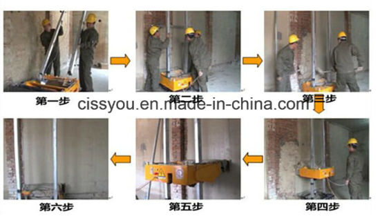 Automatic Indoor Cement Brick Block Wall Rendering Plastering Machine pictures & photos