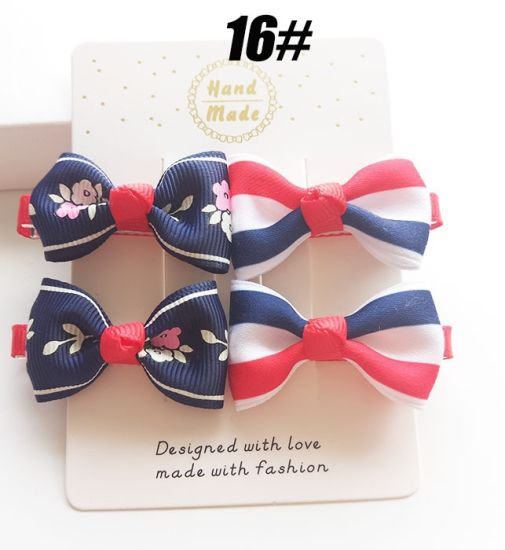 2017 Wholesale Fashion Baby Hair Ornaments Bowknot Hair Clip Hairpin pictures & photos