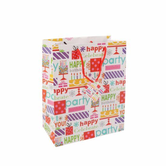 China Wholesales Birthday Gift Packing Custom Printed Logo Paper