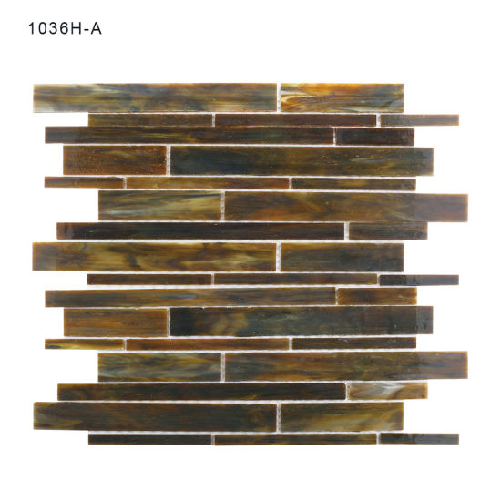 linear stained glass mosaic tile for home decoration