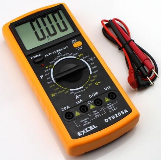 China Digital Dt9205A LCD Display Multimeter - China Multimeter, Dt266