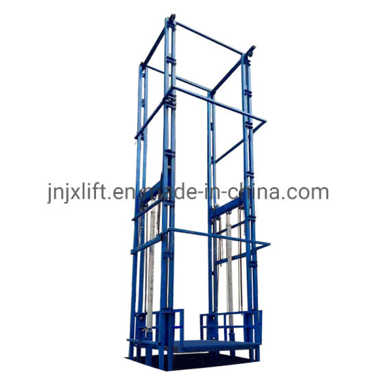 Rail Guide Freight Platform Hydraulic Vertical Small Cargo Lift