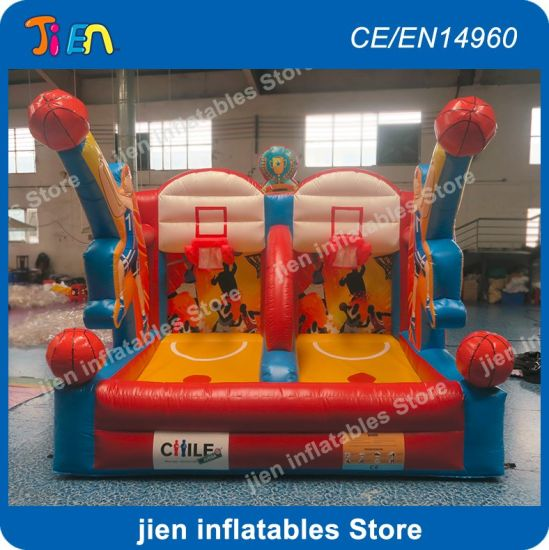 4*3m Big Inflatable Basketball Hoop Games, Giant Inflatable Basketball  Shooting Game, Cheap Basketball Toss Toys