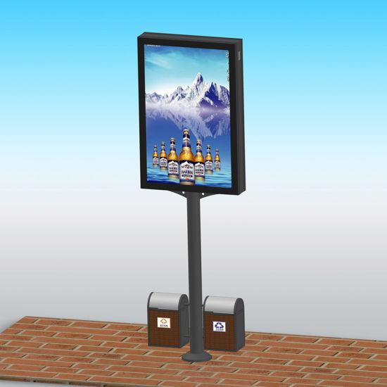 Crystal Street Advertising Signage Lamp Post Display Light Box
