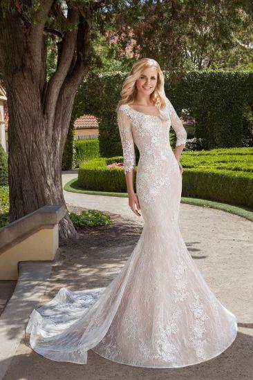 China Amelie Rocky 3/4 Sleeve Mermaid Bridal Wedding Gown Cheap ...