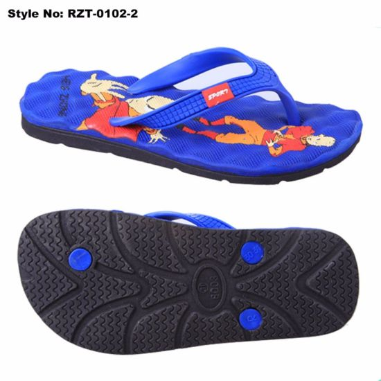 61143bc08137 Printed EVA Insole PVC Crystal Upper Unisex Mans Women Flip Flops Beach  Sandals Bath Slippers
