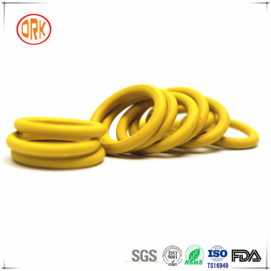 Yellow FKM Excellent Chemical Resistance Rubber O Ring pictures & photos