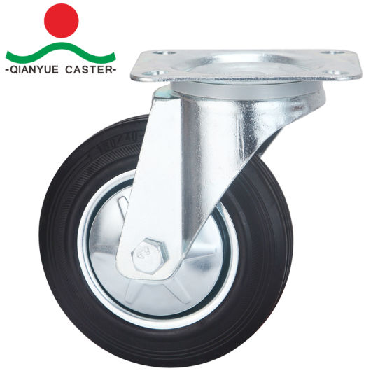 Rubber Wheel Iron Core Europe Industrial Caster pictures & photos