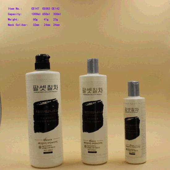 300/650ml/1L Plastic Shampoo Cosmetic Pump Bottle