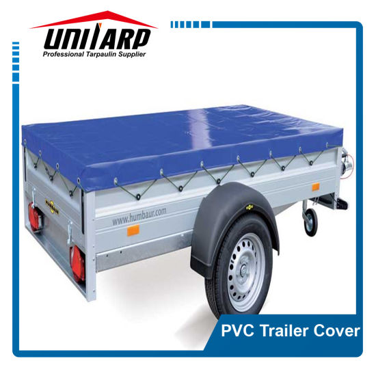 Roll up Light Blue 900GSM PVC Trailer Cover with Flaps pictures & photos