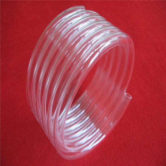 Clear Helical Quartz Tube for Heater pictures & photos