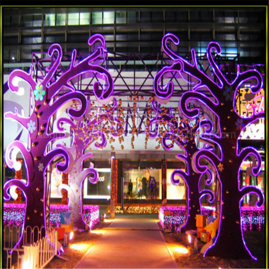 Hot Sales 15*25mm Purple 110V High Brightness Christmas Light Flex Neon Light pictures & photos